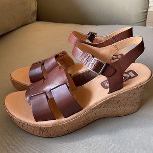 Korks by Kork-Ease Brown Leather Sandals Size 7 38
